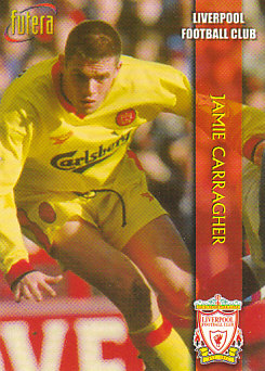 Jamie Carragher Liverpool 1998 Futera Fans' Selection #19