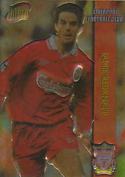 Jamie Redknapp Liverpool 1998 Futera Fans' Selection Chrome Embrossed #6