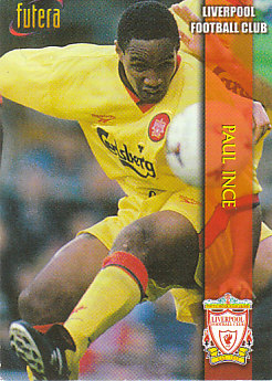 Paul Ince Liverpool 1998 Futera Fans' Selection Embrossed #11