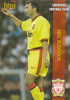 Neil Ruddock Liverpool 1998 Futera Fans' Selection Embrossed #12