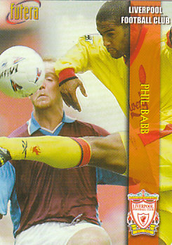 Phil Babb Liverpool 1998 Futera Fans' Selection Embrossed #18