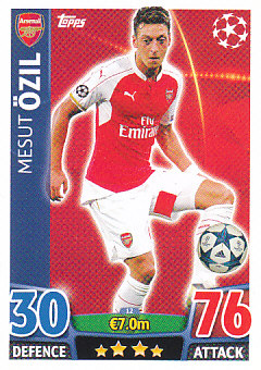 Mesut Ozil Arsenal 2015/16 Topps Match Attax CL #12