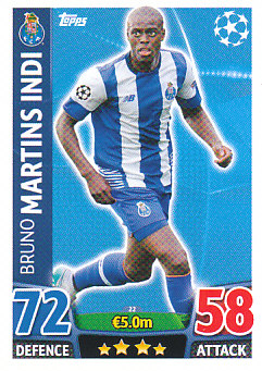 Bruno Martins Indi FC Porto 2015/16 Topps Match Attax CL #22