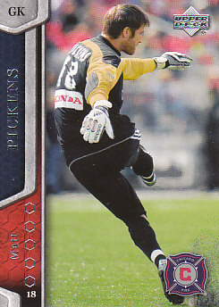 Matt Pickens Chicago Fire UD MLS 2007 #5