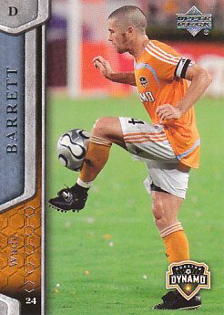 Wade Barrett Houston Dynamo UD MLS 2007 #53