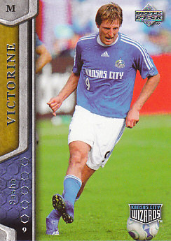 Sasha Victorine Kansas City Wizards UD MLS 2007 #62