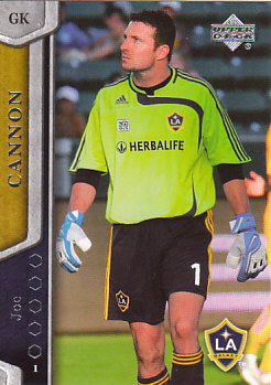 Joe Cannon Los Angeles Galaxy UD MLS 2007 #65