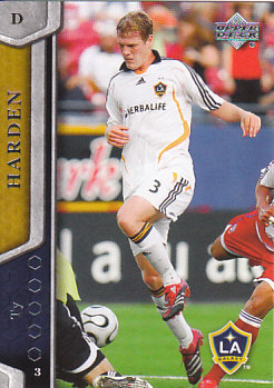 Ty Harden Los Angeles Galaxy UD MLS 2007 #69
