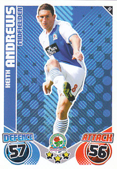 Keith Andrews Blackburn Rovers 2010/11 Topps Match Attax #66