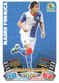 Mauro Formica Blackburn Rovers 2011/12 Topps Match Attax #49