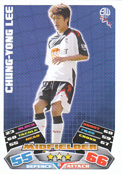 Lee Chung-Yong Bolton Wanderers 2011/12 Topps Match Attax #65