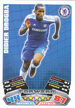 Didier Drogba Chelsea 2011/12 Topps Match Attax #87