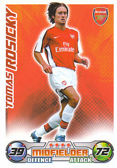 Tomas Rosicky Arsenal 2008/09 Topps Match Attax #11