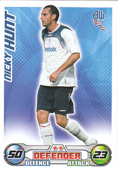 Nicky Hunt Bolton Wanderers 2008/09 Topps Match Attax #58