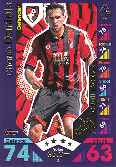 Charlie Daniels AFC Bournemouth 2016/17 Topps Match Attax Tough Tackler #3