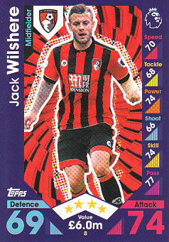 Jack Wilshere AFC Bournemouth 2016/17 Topps Match Attax #8