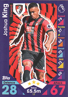 Joshua King AFC Bournemouth 2016/17 Topps Match Attax #17