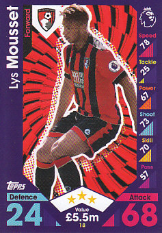 Lys Mousset AFC Bournemouth 2016/17 Topps Match Attax #18
