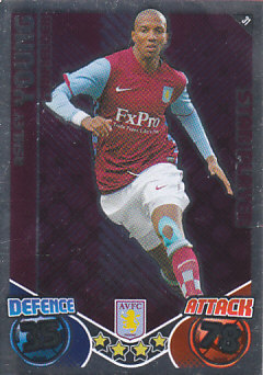 Ashley Young Aston Villa 2010/11 Topps Match Attax Star Player #31