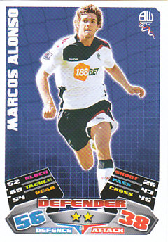 Marcos Alonso Bolton Wanderers 2011/12 Topps Match Attax #60