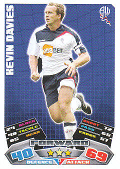 Kevin Davies Bolton Wanderers 2011/12 Topps Match Attax #72