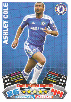 Ashley Cole Chelsea 2011/12 Topps Match Attax #76