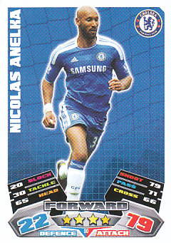 Nicolas Anelka Chelsea 2011/12 Topps Match Attax #90
