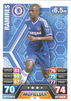 Ramires Chelsea 2013/14 Topps Match Attax #64