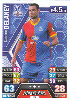 Damien Delaney Crystal Palace 2013/14 Topps Match Attax #75