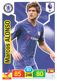 Marcos Alonso Chelsea 2019/20 Panini Adrenalyn XL #93