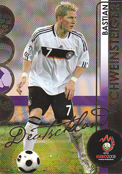 Bastian Schweinsteiger Germany Panini Euro 2008 Card Collection #38