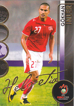 Gokhan Inler Switzerland Panini Euro 2008 Card Collection #87