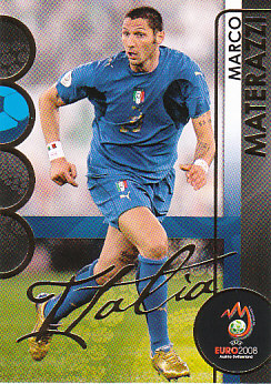 Marco Materazzi Italy Panini Euro 2008 Card Collection #103
