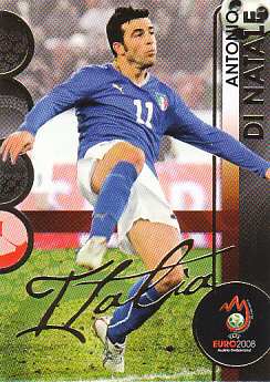 Antonio Di Natale Italy Panini Euro 2008 Card Collection #112