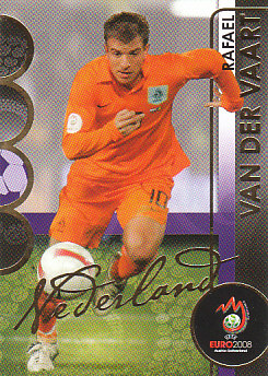 Rafael van der Vaart Netherlands Panini Euro 2008 Card Collection #120