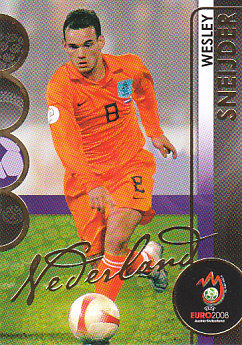Wesley Sneijder Netherlands Panini Euro 2008 Card Collection #121