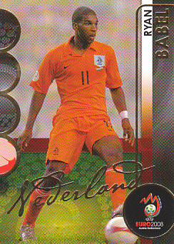 Ryan Babel Netherlands Panini Euro 2008 Card Collection #123