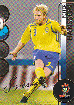 Petter Hansson Sweden Panini Euro 2008 Card Collection #175