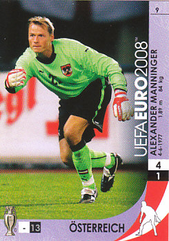Alex Manninger Switzerland Panini Euro 2008 Card Game #9