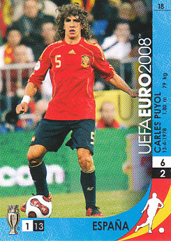 Carles Puyol Spain Panini Euro 2008 Card Game #18