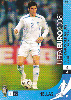 Georgios Seitaridis Greece Panini Euro 2008 Card Game #28