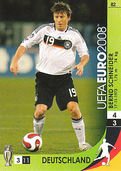 Bernd Schneider Germany Panini Euro 2008 Card Game #82