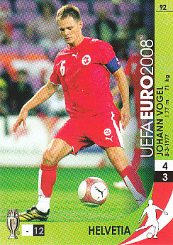 Johann Vogel Switzerland Panini Euro 2008 Card Game #92