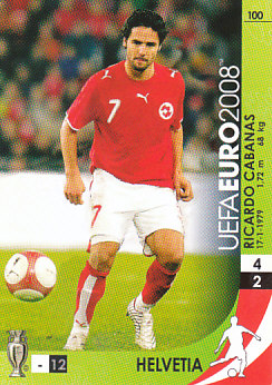 Ricardo Cabanas Switzerland Panini Euro 2008 Card Game #100