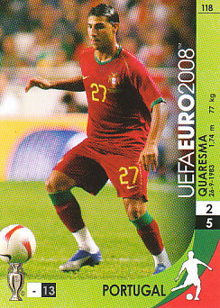 Ricardo Quaresma Portugal Panini Euro 2008 Card Game #118