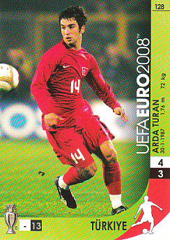 Arda Turan Turkey Panini Euro 2008 Card Game #128