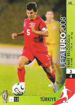 Emre Belozoglu Turkey Panini Euro 2008 Card Game #142