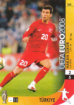 Hakan Sukur Turkey Panini Euro 2008 Card Game #165