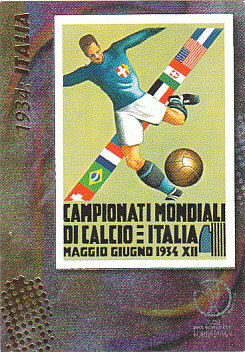 Official Poster 1934 Italia Panini World Cup 2002 #5