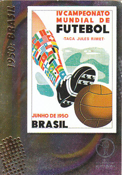 Official Poster 1950 Brasil Panini World Cup 2002 #7